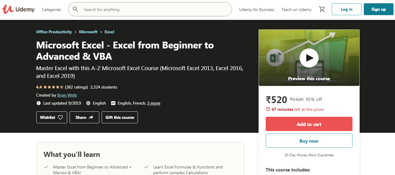 Best Udemy Courses - MS Excel