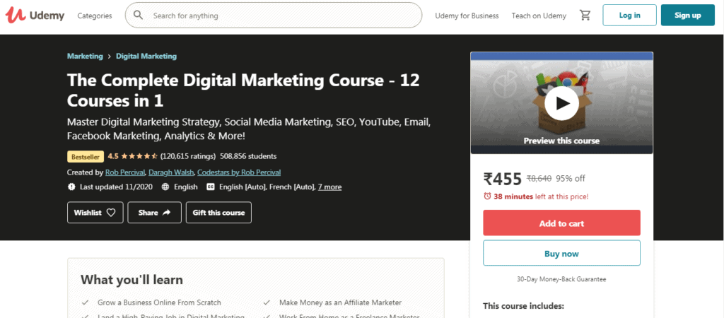 The complete digital marketing course 12 in 1