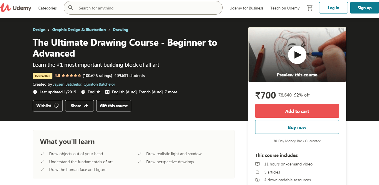 Best Udemy Courses - Drawing Course
