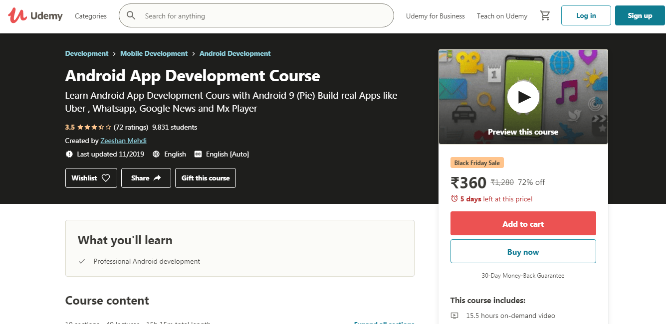 Udemy Anroid - Overview